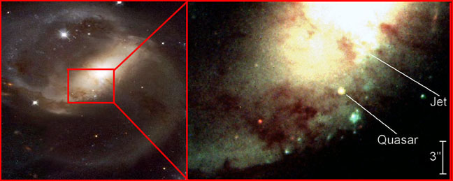 Ein Quasar vor der Galaxie NGC 7319