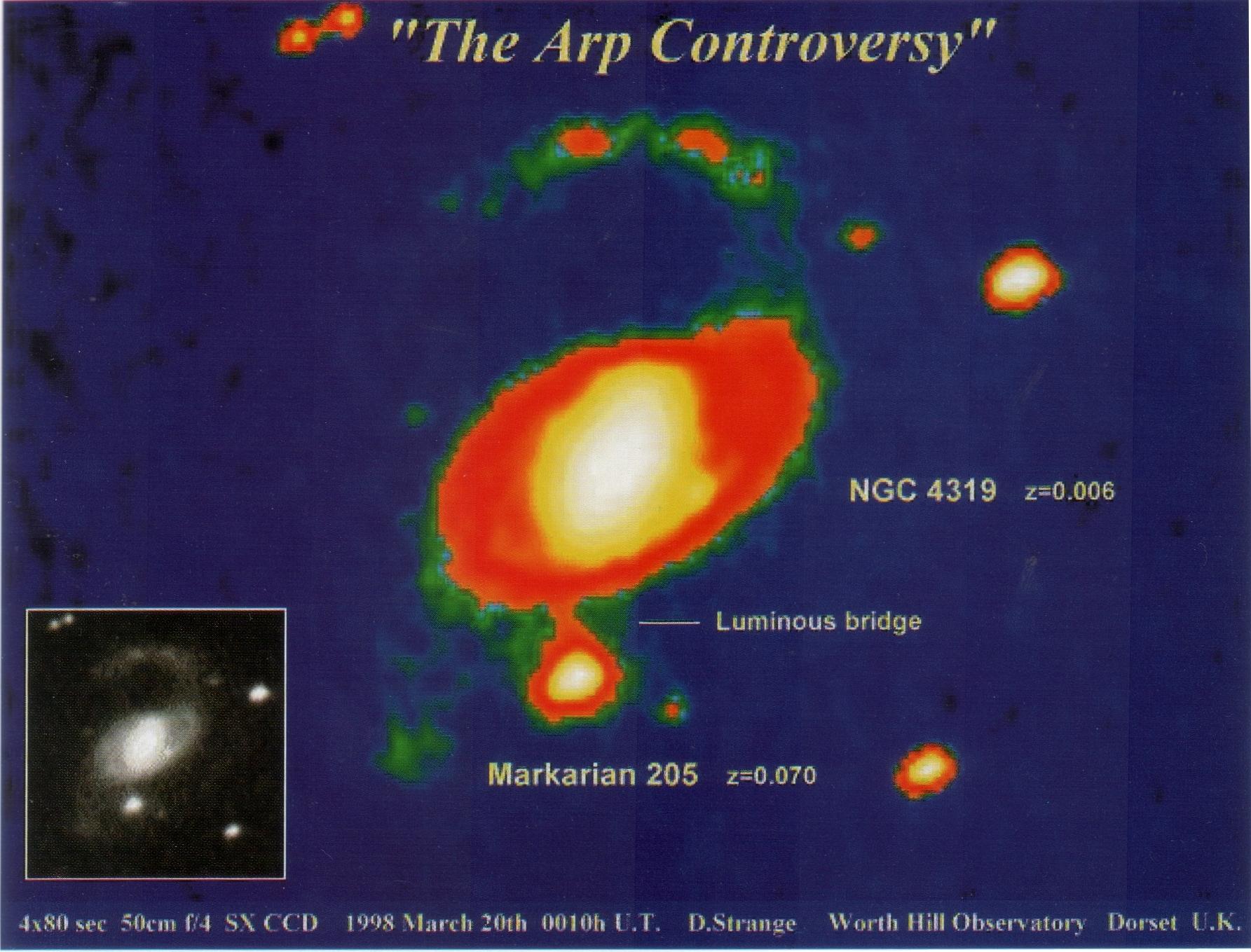 Materiebrücke zwischen NGC4319 und Markarian 205
