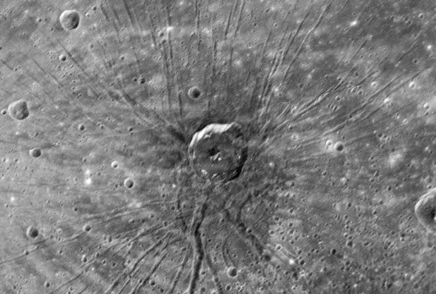 Eine Spinne auf dem Merkur