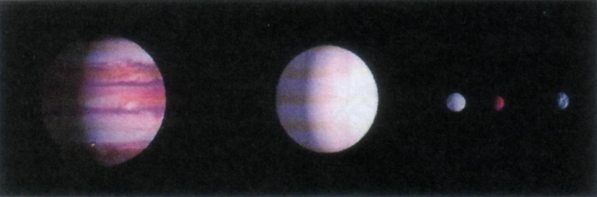 Das Saturn-System: Jupiter, Saturn, Venus, Mars und ERde