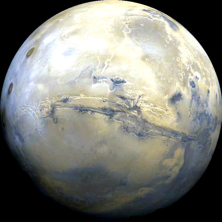 Mars mit Valles Marines
